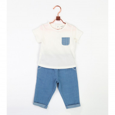 Jersey T-shirt with pocket CARREMENT BEAU for BOY