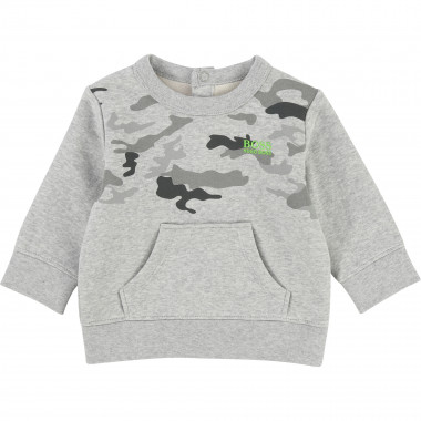 Cotton fleece sweatshirt BOSS for BOY