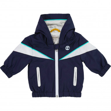 Hooded waterproof windbreaker TIMBERLAND for BOY