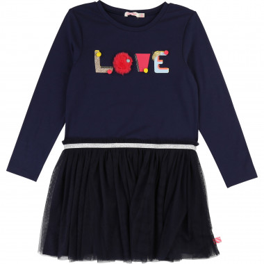 Dual-material dress with fur BILLIEBLUSH for GIRL