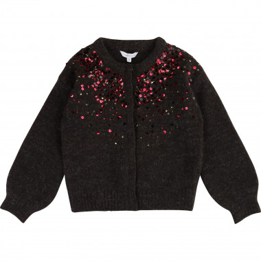 Knit cardigan with sequins LITTLE MARC JACOBS for GIRL
