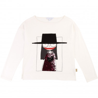 Sequined cotton blend T-shirt LITTLE MARC JACOBS for GIRL